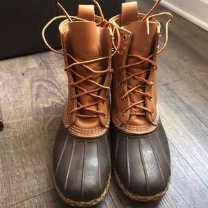 Tan/Brown Thinsulate Bean Boots men's size 8